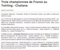 Ouest-France : Championnat national 2012