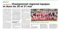 Article sur le régional équipes et duos à Challans